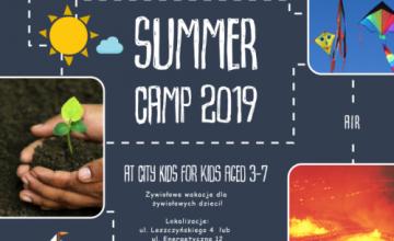 Żywiołowe wakacje SUMMER CAMP 2019